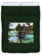 Rainbow Springs In Florida Duvet Cover