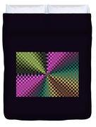 Rainbow Squares Duvet Cover