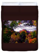 Rainbow Treetops Duvet Cover by DigiArt Diaries by Vicky B Fuller
