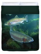 Rainbow Trout Oncorhynchus Mykiss Pair Duvet Cover