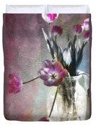 Rainbow Tulips Duvet Cover
