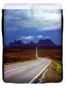 Rainclouds Over Monument Valley Duvet Cover