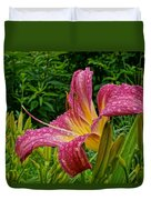 Raindrops On Lilly Duvet Cover
