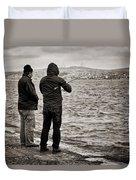 Rainy Day Fishing Duvet Cover