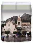 Rainy Day In Taormina Duvet Cover