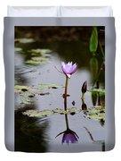 Rainy Day Lotus Flower Reflections V Duvet Cover