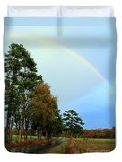 Rainy Day Rainbow Duvet Cover