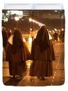 Rainy Night Nuns Duvet Cover