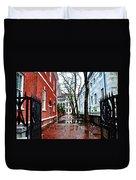 Rainy Philadelphia Alley Duvet Cover by Bill Cannon