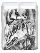 Ram Skull Still-life Duvet Cover