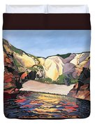 Ramsey Island - Land And Sea No 2 Duvet Cover
