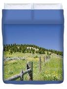 Rangeland Wild Flowers Duvet Cover