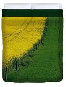Rapeseed Growing In A Field, Ireland Duvet Cover