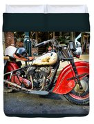 Rare Indian Motorcycle Duvet Cover