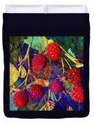 Raspberries Duvet Cover