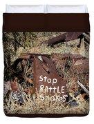 Rattlesnake Warning Duvet Cover