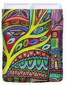 Raven Spirit Tree Totem Goddess Duvet Cover