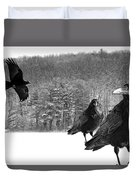 Ravens By A Woods Duvet Cover