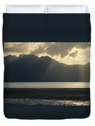 Rays Of Sunlight Through Clouds Duvet Cover