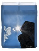 Rays On The Castle Duvet Cover