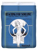 Reaching For Someone Duvet Cover by Mel Thompson