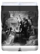 Reading Emancipation Proclamation Duvet Cover by Photo Researchers