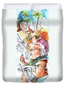 Reading The News 07 Duvet Cover