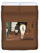 Ready For The Dressage Lesson Duvet Cover