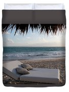 Ready To Relax On A Tropical Beach Duvet Cover by Karen Lee Ensley