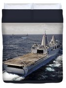 Rear View Of Uss Green Bay Duvet Cover