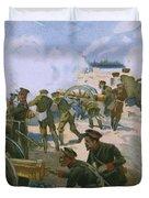 Rebellion In Venice Duvet Cover
