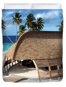 Reception Dhoni. Maldives Duvet Cover