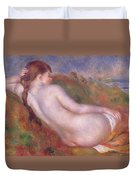 Reclining Nude In A Landscape Duvet Cover