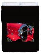 Red 1932 Oldsmobile Duvet Cover
