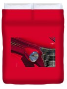 Red 1938 Chevy Coupe Duvet Cover