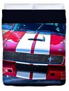 Red 1966 Mustang Shelby Duvet Cover
