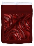 Red Abstract Texture Duvet Cover