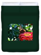 Red Admiral Probocis Duvet Cover