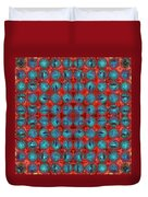 Red And Blue Abstract Duvet Cover