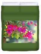 Red And Purple Fuchsias Duvet Cover