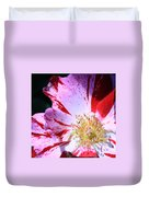 Red And White Speckled Flower Duvet Cover