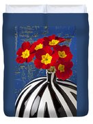 Red And Yellow Primrose Duvet Cover