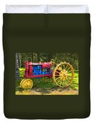 Red And Yellow Tractor Duvet Cover