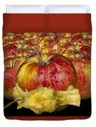 Red Apples And Core Duvet Cover