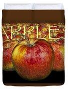 Red Apples Duvet Cover