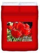 Red Art Spring Tulip Flowers Floral Duvet Cover