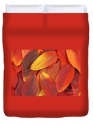 Red Autumn Leaves Pile Duvet Cover