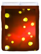 Red Background With Gold Dots Duvet Cover