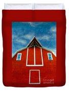 Red Barn Duvet Cover