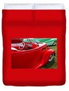 Red Beautiful Car Duvet Cover